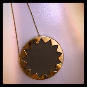 House of Harlow brown leather necklace